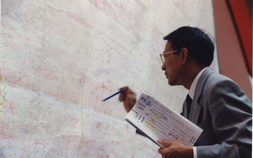 選舉道具:愛用地圖解說的陳定南